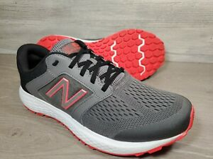 New Balance Mens 520 V5 M520LM5 Gray Black Running Shoes Lace Up Size 11 4E