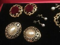 Joblot 6 Pairs Of Quality Earrings For Pierced Ears