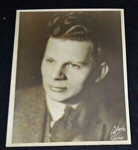 Dave Apollon Vaudeville Mandolinist Signed Vintage Photograph by Bloom, Chicago
