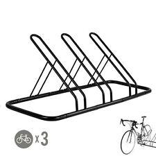 1 - 3 Bike Floor Parking Rack Storage Stand Bicycle