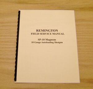 Remington SP-10 Magnum Field Service Manual / Gunsmith -  #46