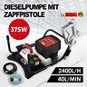 155W Gasolio Pompa Travaso Elettropompa Diesel Universale Contalitri 40L/min