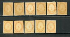 MEXICO PORTE DE MAR 4TH SERIES FOLLANSBEE# PM28 STUDY LOT OF 11 STAMPS AS SHOWN