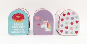 Mini Tin Mailbox 📫 NEW Donuts Hearts Unicorns - YOU CHOOSE