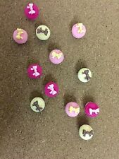 12 Decorative Pink Cup Cake Thumbtacks Push Pins Cork Board Thumb Tacks Office