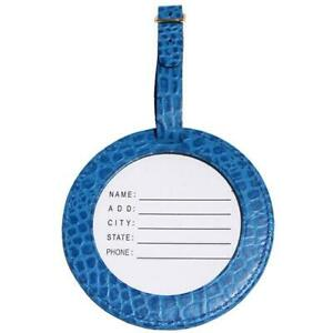 Needlepoint Handpainted Lee Luggage ID Tag Leather ~ Choose Your Color!!