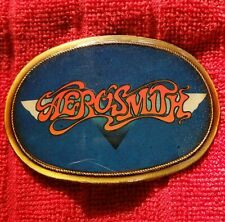 Vintage AEROSMITH 1976 Pacifica Belt Buckle Logo Buckle