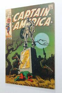 CAPTAIN AMERICA # 113 - Marvel 1969 KEY - Classic JIM STERANKO COVER - AVENGERS