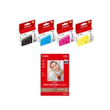 Canon CLI-821 BK/C/M/Y Ink Tanks (4pcs) + GP-508 4R Photo Paper (20 Sheets)