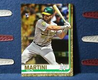 2019 Topps Nick Martini RC Gold Parallel #d /2019 Rookie #618 Oakland Athletics