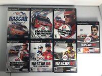 PlayStation 2 Nascar Video Game Lot Of 7 2001-2008 No 2005 EA Games