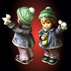 Berta Hummel 'Feeding Feathered Friends' Hand Painted Ceramic Figurine ~ Hummel