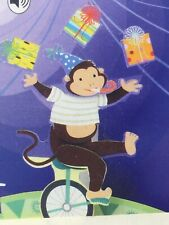 3D Pop Up Happy Birthday Greeting Card Juggling Monkey with Sound Effects