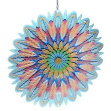Floral Splash 6.5 inch Metal Wind Spinner Stunning Color