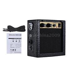 Mini Guitar Bass Ukulele Amp Amplifier Speaker 3 W 9V Black Hot+Free Ship L6T9