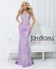 Tony Bowls Prom Dress 114503 Light Purple Size 6 NWT