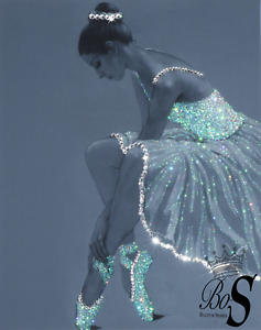"""Sparkle Glitter canvas print """"Ballerina"""" , any size! Free Delivery."""