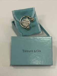PARADE Broadway Musical OPENING NIGHT GIFT Silver TIFFANY & CO Keychain! W/ BOX