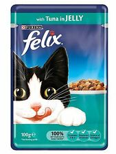 Felix Wet Cat Food Tuna in Jelly Pouch 100g - 20 packs