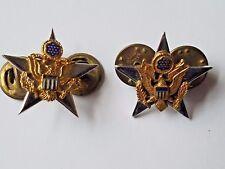 Vietnam Era US Army General Staff Star Collar Pins.