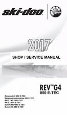 2017 Ski-Doo G4 850 E-TEC Renegade MKZ Summit snowmobile service manual binder