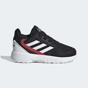 New Adidas NEBZED Baby/Walker Sneakers Black/Scarlett US 6M