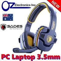 SADES GPOWER SA 708 Stereo PC Gaming Headset Headphones Noise Cancel Mic YELLOW