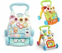 2 IN 1 BABY FIRST STEP ACTIVITY PUSH WALKER MUSICAL PLAY STROLLER SIT & PLAY UK