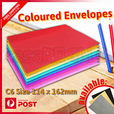 Unbranded brown envelope card making supplies ebay coloured envelopes party wedding invitation red blue green or yellow c6 25pcs stopboris Gallery