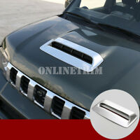 ABS Chrome Front Hood Air Vent Trim Cover 1pcs For Suzuki Jimny 2012-2017