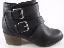 Rampage Juliet Women's Ankle Boots Black Strappy Zip Up Dress Shoes Booties