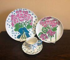 """Vintage """"Everlasting"""" Pattern Gloria Vanderbilt China Tableware Service for 8"""