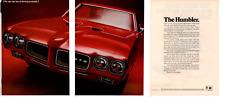1970 PONTIAC GTO 455 RAM AIR IV ~ ORIGINAL 3-PAGE PRINT AD