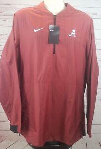 Nike Alabama Crimson Tide Lockdown Jacket Men's Large Red 1/4 Zip
