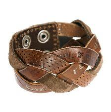 Diesel Mens Agarino Brown Leather Cuff Wristband BNWT Bracelet Wrist Belt RRP£49