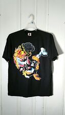 DAFFY DUCK FATHER'S DAY TEE MEN'S XL BLACK SHORT SLEEVE GRAPHIC FRONT AND BACK