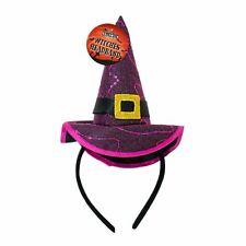 Halloween Witches Pink Headband Sequins Sparkly Belt Buckle Kids Parties Gift