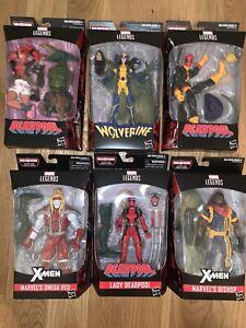 Marvel Legends Deadpool: Dr Karl Lykos (Sauron) BAF Complete Set Of 6 Figures