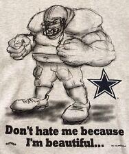 Vtg 1993 Dallas Cowboys Don't Hate Me Aikman Emmitt Smith Lg Sweatshirt Made USA