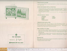 8629 Hitachi Refrigerator c 1965 instruction manual Tokyo Japan, Y. Suzuki