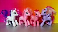 4 - G3 My Little Pony MLP Brushable Rare Horse Bundle Lot Era 2002-2006 Ponies