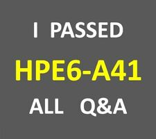 HPE6-A41 HP6-A41 Applying Aruba Switching Fundamentals for Mobility v7 65QA PDF