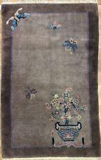 Captivating Cinese - 1930s Antico Peking Tappeto - Art Déco Tappeto - 0.9x1.5m