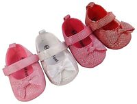 MINIFEET NEW BABY GIRLS PARTY SHOES / CHRISTENING SHOES 0-6, 6-12, 12-18 Months