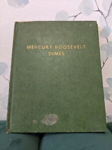 Mercury Dimes in Vintage Whitman Book 1916–1945-D Made in U.S.A. Incomplete Set