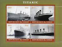 Titanic Stamps 2018 CTO Ships Boats Nautical 4v M/S II