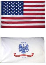 New listing 3x5 Usa American Flag Us Army 2 Flag Premium Set Gift Premium Banner Set