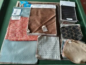Upholstery Scrap Fabric Sample Swatch Books Checks Plaids Polyester MIX 5+ LBS