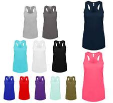 Damen Ideal Tank Top Sommershirt Ärmel Shirt Rundhalsausschnitt Uni Racerback