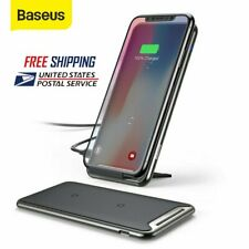 Baseus QI Wireless Charger Dock Charging Pad for iPhone XS Samsung Galaxy S10